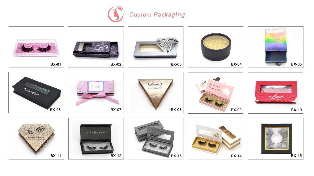 wholesale mink lashes custom packaging