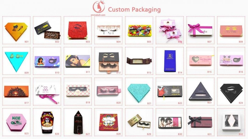 wholesale mink lashes custom packaging box